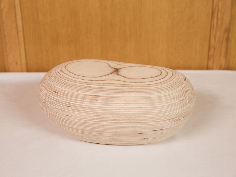pebble wood urn
