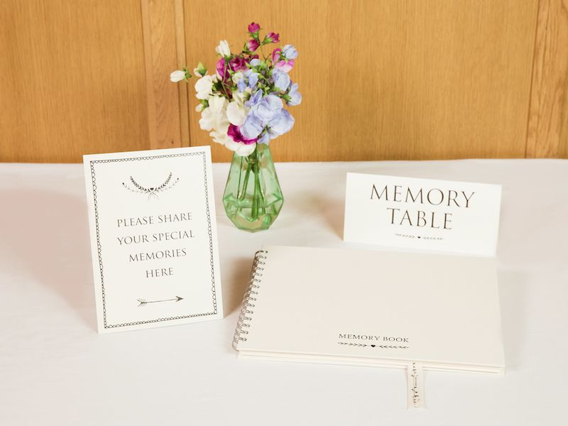 memory book and signs | funeral service accessories