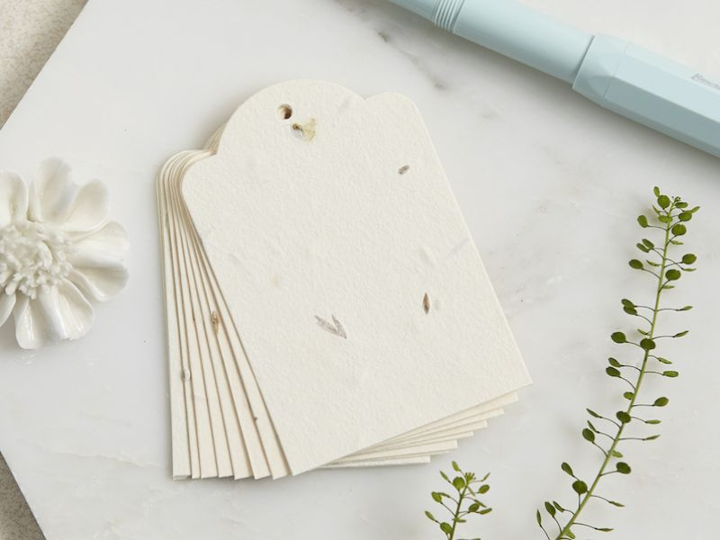 seed paper luggage tags for funerals