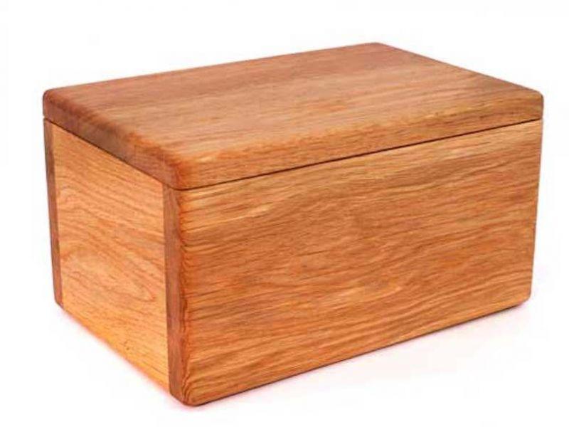 Handmade wooden urn