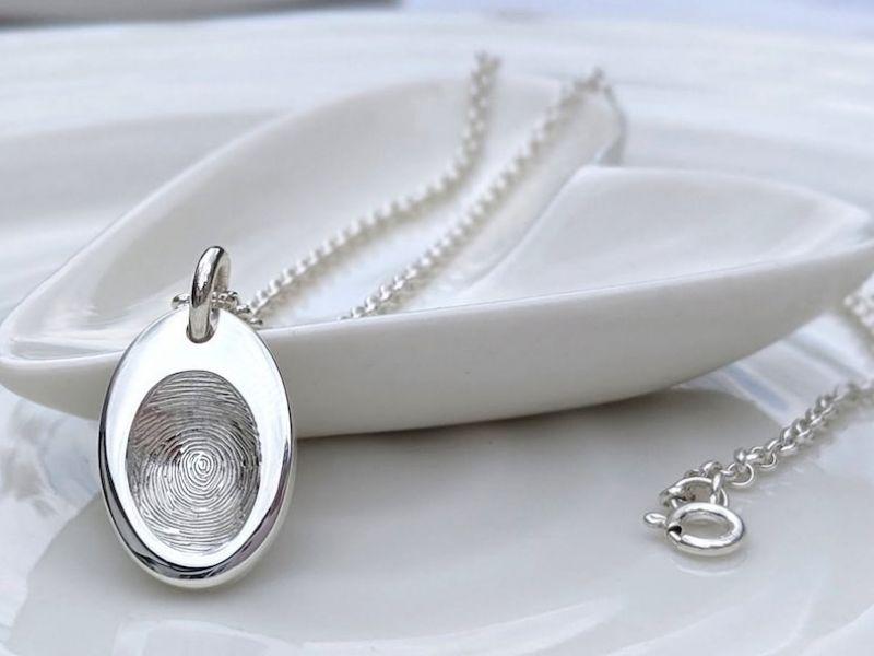 Fingerprint necklace pendant