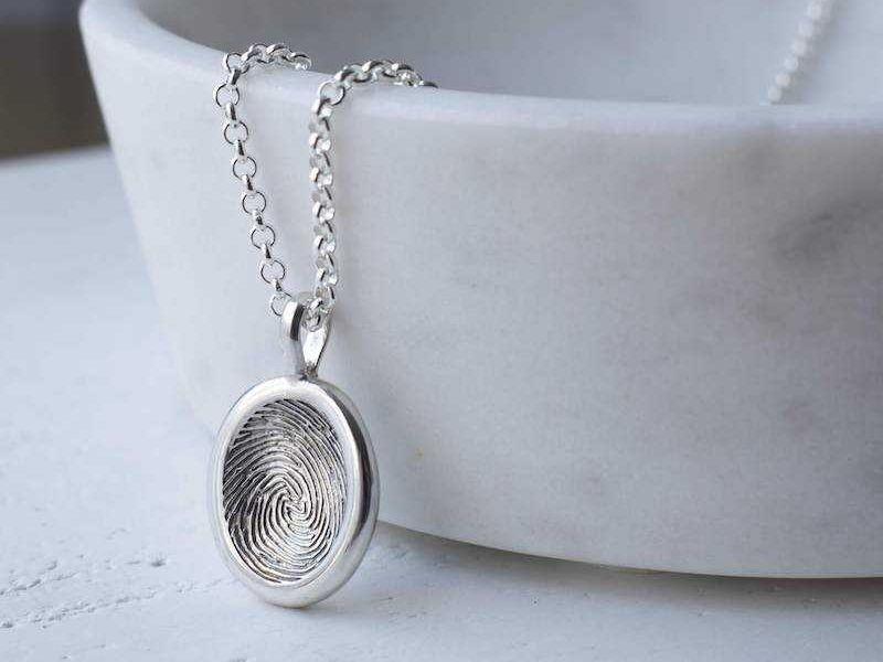 Fingerprint nugget pendant