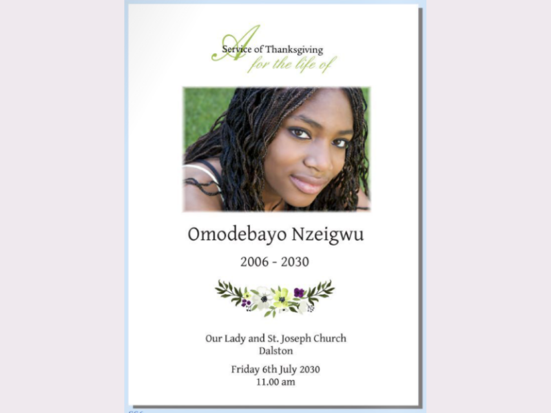 Orders of service | funeral stationery